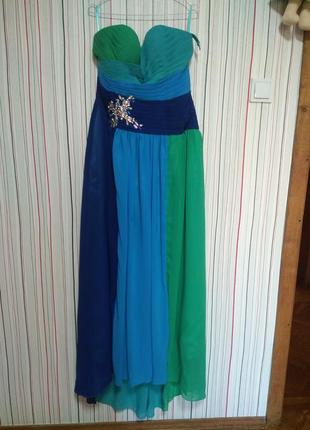 Вечернее платье 14/44,вечірня сукня 50-52-54,выпускное длинное в пол,плаття