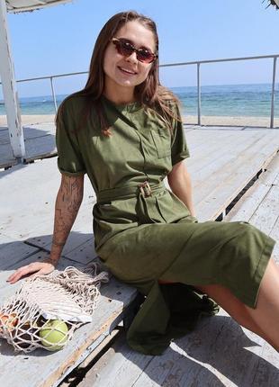 Замшевое платье - футболка свободного кроя