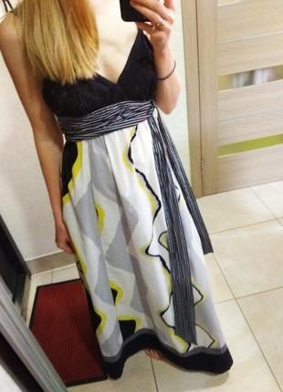 Летнее платье сарафан в пол макси