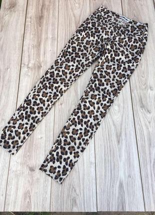 Maison scotch & soda стильные леопардовые штаны актуальный принт леопард брюки