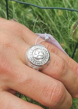 Серебряное кольцо тамплиеров