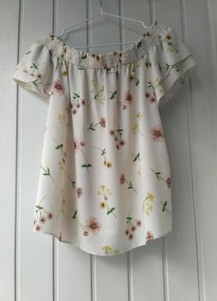 Летняя блузочка в цветочный принт