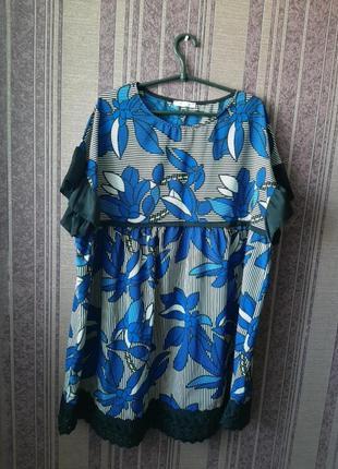 Платье туника большой размер батал