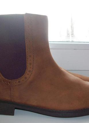 Ботинки демисезонные натуральная кожа clarks р.36