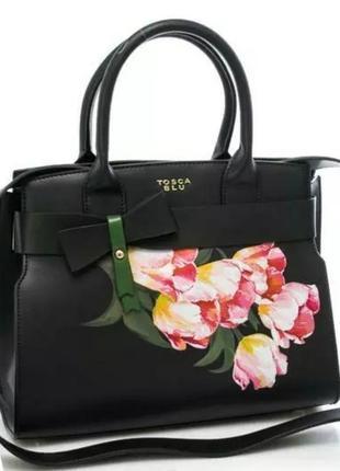 Tosca blu новая красивая кожанная сумка, италия