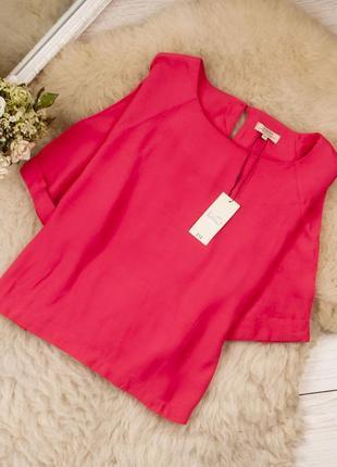 Яркая качественная натуральная блуза от papaya рр 18 наш 52