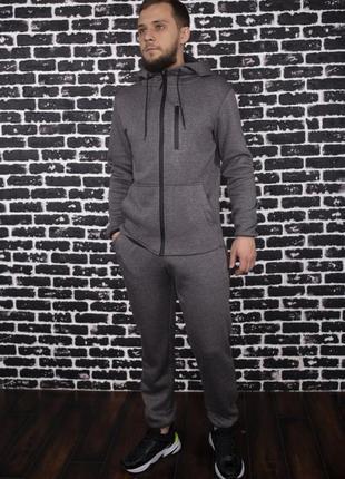 Теплый костюм intruder 'spirited hot' серый