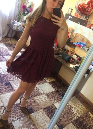 Кружевное платье от h&m