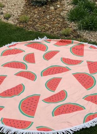 Пляжное полотенце.пляжный коврик. пляжное полотенце с арбузами. детское пляжное полотенце