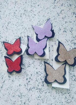 Бабочка заколка метелик