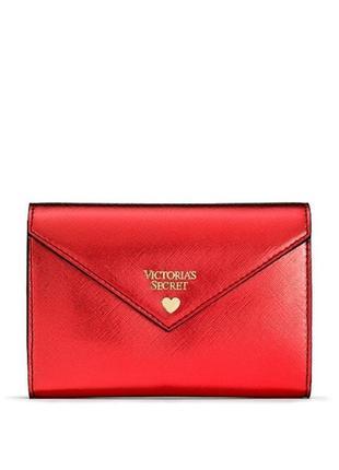 Мини-клатч victoria's secret красный металлик