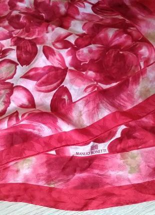 Большой дизайнерский платок (100% шелк) manlio bonetti