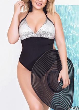 Размер 48-58 очаровательный женский купальник
