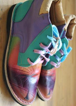 Кожаные ботинки ручной работы