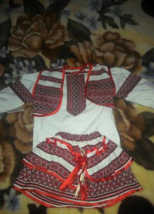 Украинский костюм для девочки 1 - 2 года.