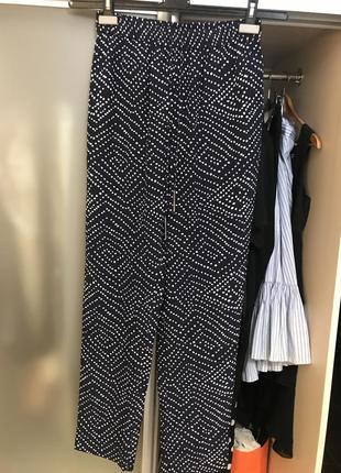 Diane von furstenberg шелковые брюки