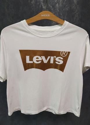 Футболка levi's® из коллекции holiday оригинал! размер xs-s (арт.15)