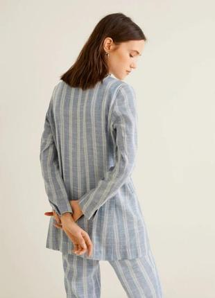 Трендовый льняной пиджак, блейзер от mango xs, s, m3 фото