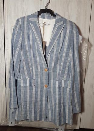 Трендовый льняной пиджак, блейзер от mango xs, s, m4 фото