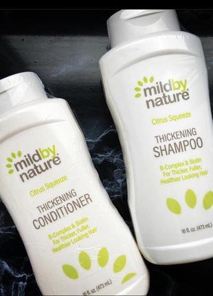 Mild by nature от madre labs,b-комплекс для густоты волос + шампунь с биотином
