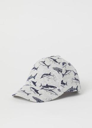 Красивая кепка с акулами