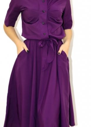 Девушки в наличии шикарное лёгкое софт платье миди на пуговицах свободного покроя- xs s m