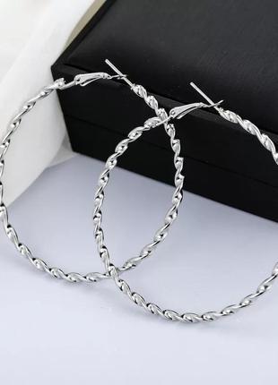 Серьги кольца, сережки кольцами