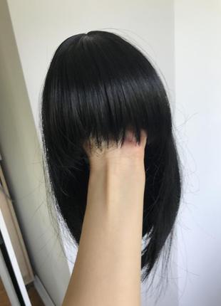 Парик чорне каре з чолкою / перука