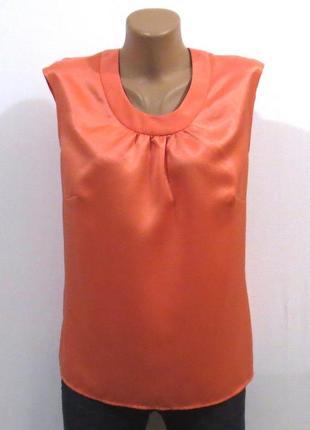 Персиковая блузка без рукавов от carolin идеальна для базового гардероба размер: 50-xl