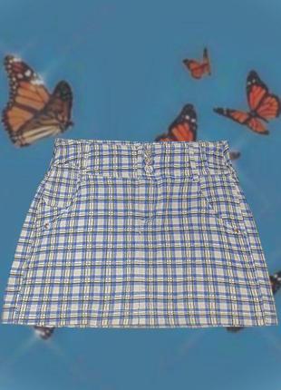 Винтажная мини-юбка в клетку oodji.