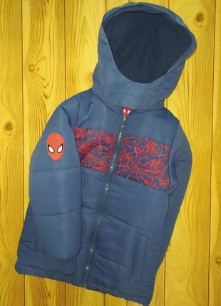 Демисезонная куртка человек паук marvel 3-4 года