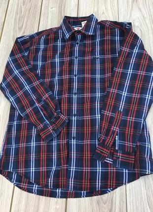 Рубашка клетчатая в клетку lee cooper стильная актуальная тренд levi's colins
