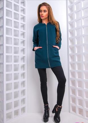 Кашемировое пальто на молнии
