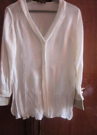 Шелковая рубашка massimo dutti  размер xs-s