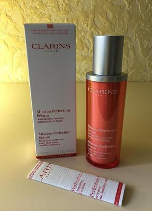 Clarins mission perfection serum сыворотка для лица выравнивающая тон кожи 50 ml