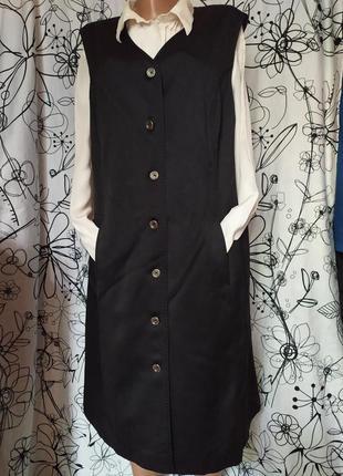 Платье сарафан в стиле cos 40 %шерсть.toga