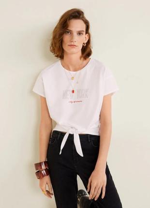 Стильная футболка xs, s, m mango, испания