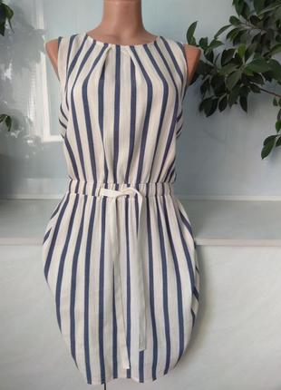 Натуральное хлопковое платье zara размер m