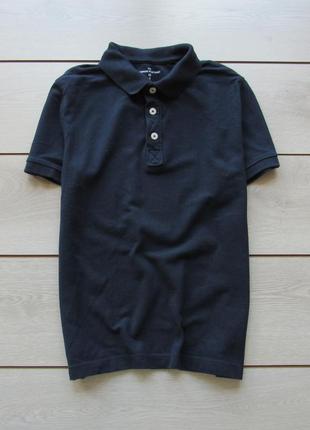 Синяя футболка поло
