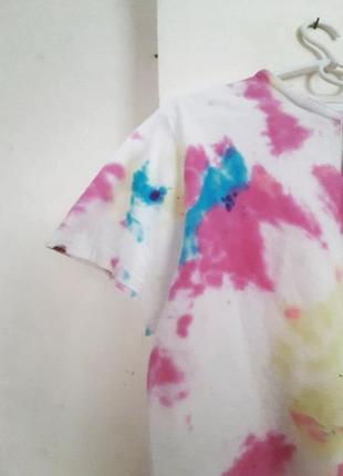 Стильная футболка модный принт тай дай