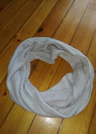 Блестящий шарф/ снуд/ хомут от tu😍