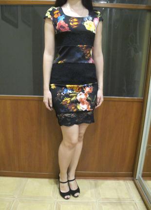 Супер платье с цветами