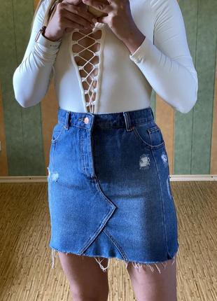 Юбка джинсовая miss