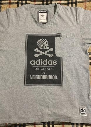 Футболка adidas, коллаборация с neighborhood