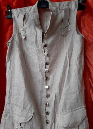 Супер платье сафари лен 100%