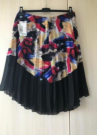Плиссированная юбка с граффити mango / xs / s