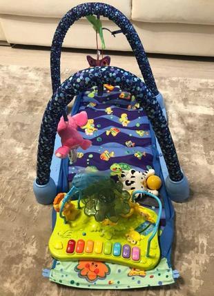 Коврик для младенца bambi jdl555-23 с музыкальным игровым столиком