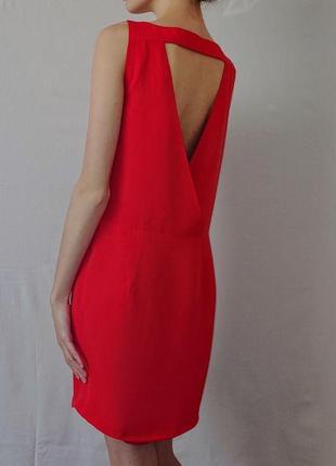 Классическое красное платье zara basic