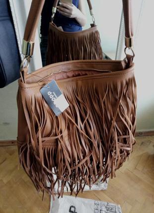 Рыжая сумка cropp супер стильная