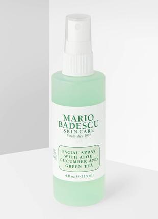 Спрей для лица с экстрактами алоэ вера, огурца и зеленого чая mario badescu facial spray